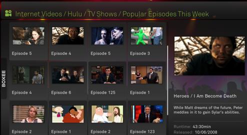 Hulu on Boxee